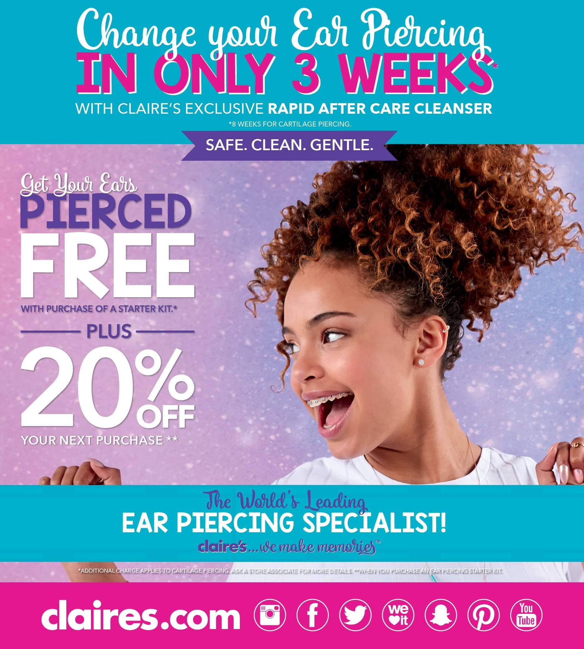 Claire S Ear Piercing Offers The Broadway Bradford